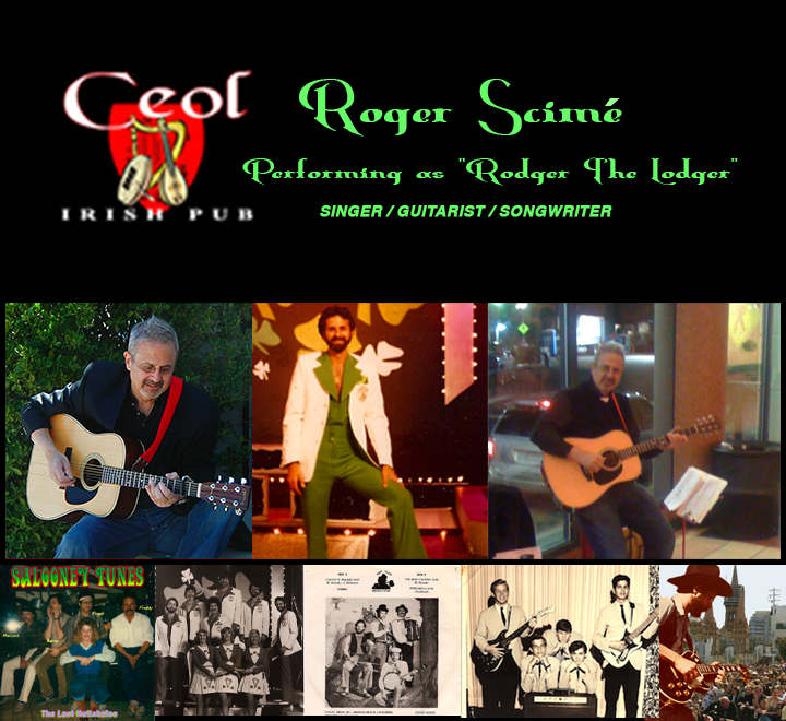 A partial musical history of Roger Scimé, singer/songwriter/guitarist